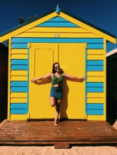 Of course I picked a yellow hut!